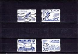 1957 - CANADA - O/FINE CANCELLED - SPORT, FISHING  Sc 365/8  Mi 312/5   Yv 292/5