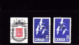1962/3  - CANADA - O/FINE CANCELLED - VICTORIA - GOOSE - Sc 399, 415
