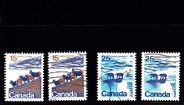 1971  - CANADA - O/FINE CANCELLED - MOUNTAIN SHEEP, POLAR BEAR - DIFF TYPES  Sc 595, 597