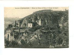 Cp - Environs D'Yssingeaux (43) - Ruines Du Chateau De Carry Et Gorges Du Lignon - Frankreich