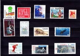 1974/80 - CANADA - O/FINE CANCELLED - OLYMPICS, SPORT, FAUNA  Sc 640,645,665,682,689,813,814,B 12