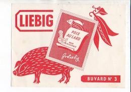 Buvard Publicitaire  / Pois Au Lard LIEBIG N° 3 / Porc,cochon - Animaux