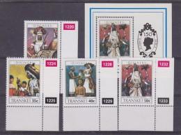 Transei 1990 Diviners 4v (corners) + M/s ** Mnh (32151) - Transkei
