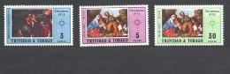 TRINIDAD & TOBAGO     1972 Christmas - Paintings 242/44 Mint - Trindad & Tobago (1962-...)