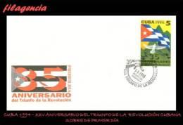CUBA SPD-FDC. 1994-01 XXXV ANIVERSARIO DE LA REVOLUCIÓN CUBANA - FDC