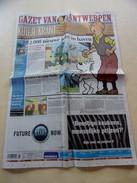 TINTIN KUIFJE Anniversaire 75 Ans Gazet Van Anterwerpen 9 Juin 2004 En Neerlandais. - Revues & Journaux
