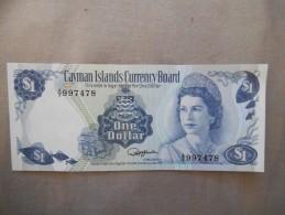 ONE DOLLAR CAYMAN ISLANDS CURRENCY BOARD 1974 A/5 997478 S1 NEUF - Iles Cayman