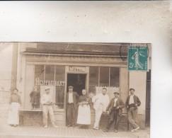 CARTE PHOTOS CAFE DE GOURNAY 1910 - Gournay-en-Bray