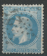 Lot N°31987   Variété/n°29, Oblit étoile Chiffrée 24 De PARIS ( R. De Cléry ), Point Blanc Sur Le Nez - 1863-1870 Napoleon III With Laurels