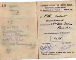 VP5511 - Carte De L'Association Amicale Des Ancien Elèves De L'Ecole Saint Michel à PARIS  - Mr Robert FOL - Cartes
