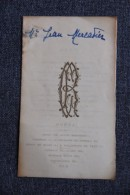 MENU D'un Banquet De MARIAGE Célébré à BEZIERS Le 2 AOUT 1932 à L'hotel Du NORD - Menus