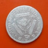 South Africa 3 Pence 1943 Silver - Afrique Du Sud
