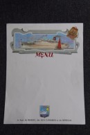 MENU Vierge De La Ligne Transatlantique MAROC, ILES CANARIES, SENEGAL.- Navigation PAQUET - Menus