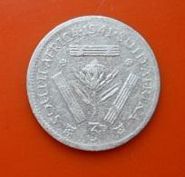 South Africa 3 Pence 1941 Silver - Afrique Du Sud