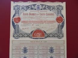 COMPAGNIE FERMIERE DES EAUX BONNES ET EAUX CHAUDES  BASSES PYRENEES - Casino