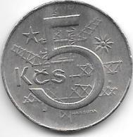 *czechoslovakia 5 Korun 1990  Km 60  Xf+ - Tchécoslovaquie