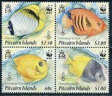 Pitcairn , Fish, WWF, 2010, Sheetl 4 X 4 - W.W.F.