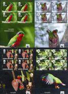 Cook Isl, Birds, WWF, 2010, 4 Sheets - W.W.F.