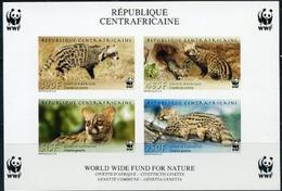 CAR Central African Republick, WWF, Animals, 2007, S/s Imperforated Block Rare - W.W.F.