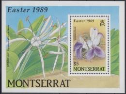 Montserrat 1989 Yvertnr. Bloc 49 *** MNH Cote 8 Euro Flore Fleurs Easter Pasen - Montserrat