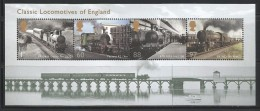 GREAT BRITAINS 2011 - STEAM LOCOMOTIVES OF ENGLAND - MNH - No % On Payment - Trains