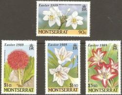 Montserrat 1989 Yvertnr. 705*708 *** MNH Cote 55 FF Flore Fleurs Easter Pasen - Montserrat