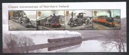 GREAT BRITAINS 2013 - STEAM LOCOMOTIVES OF IRELAND - MNH - No % On Payment - Trains