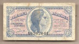 Spagna - Banconota Circolata Da 50 Centesimi - 1937 - [ 2] 1931-1936 : Repubblica