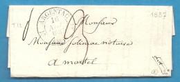 Corrèze - Argentat Pour Martel (Lot). LAC De 1837. CàD Type 12 : ARGENTAC - 1801-1848: Precursori XIX
