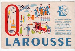 Sept16  76476   Buvard Larousse  Lettre Q - Stationeries (flat Articles)