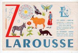 Sept16  76475   Buvard Larousse  Lettre Z - Stationeries (flat Articles)