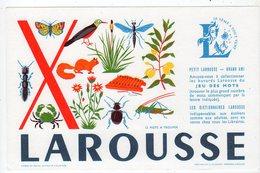 Sept16  76474   Buvard Larousse  Lettre X - Papeterie
