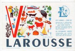Sept16  76472   Buvard Larousse  Lettre V - Stationeries (flat Articles)