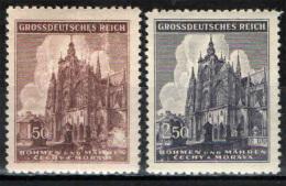 BOEMIA E MORAVIA - 1944 - CATTEDRALE SAN VITO DI PRAGA - NUOVI MNH - SEE 2 SCANS - Unused Stamps