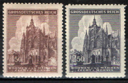 BOEMIA E MORAVIA - 1944 - CATTEDRALE SAN VITO DI PRAGA - NUOVI MNH - SEE 2 SCANS - Boemia E Moravia
