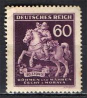 BOEMIA E MORAVIA - 1943 - MESSAGGERO DEL 17° SECOLO - GIORNATA DEL FRANCOBOLLO - NUOVO MH - Boemia E Moravia