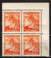 BOEMIA E MORAVIA - 1940 - FOGLIE DI TIGLIO E BOCCIOLI CHIUSI - SEE 2 SCANS - NUOVI MNH - Boemia E Moravia