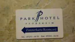 Germany- Nice Hotel Key Card, Park Hotel - Hotelkarten