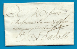 Cotes Du Nord - Broon Pour Lamballe. LAC De 1792 - Marcophilie (Lettres)