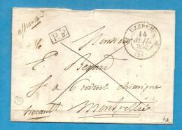 Corrèze - Uzerche Pour Montpellier (Hérault). LAC En Port Payé De 1832 - 1701-1800: Precursori XVIII
