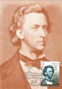 Vatican 200e Anniversaie De Naissance Des Compositeurs  Chopin  Et Schumann , 3 CM 2010 - Cartes-Maximum (CM)