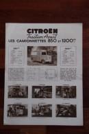 """Dépliant Publicitaire Automobile , CITROEN , La Fameuse Camionnette à Tous Usages """"Type H"""". - Pubblicitari"""