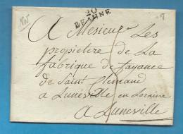 Cote D´Or - Beaune Pour La Fabrique De Faience De St Clément à Luneville. LAC De 1808 - 1801-1848: Voorlopers XIX