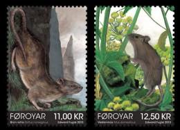 Faroe Islands 2013 MiNr. 785 - 786  Dänemark Färöer MAMMALS Rodents RATS  2v  MNH ** 6,40 € - Roditori