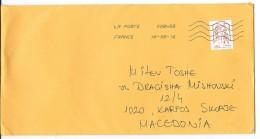 France Via Macedonia.letter 2016. Nice Stamp.motive - Marianne Of Ciappa-Kawena - France