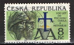 REPUBBLICA CECA - 1993 - 1130° ANNIVERSARIO DELL'ARRIVO DI SAN CIRILLO E METODIO - USATO - Tschechische Republik