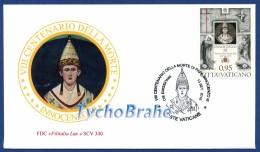 FDC 800° Papa INNOCENZO III VATICANO 2016 First Day Cover - Busta Primo Giorno VATICAN Pope INNOCENT FILITALIA LUX 340 - FDC