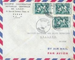 Airmail Brief  Dakar Sénégal - Stalden  (Café Frankatur)          1960 - Senegal (1960-...)