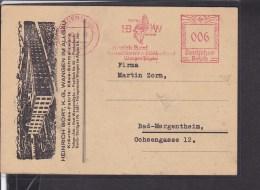 Deutsches Reich Freistempel Wangen Heinrich Bort Käsefabrik 1941 - Briefe U. Dokumente