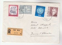 1979 REGISTERED AUSTRIA COVER To Durres ALBANIA  Franked ATOMIC ENERGY Stamps Nuclear - 1971-80 Covers
